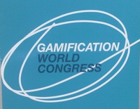 Cartel de entrada al Gamification World Congress en Valencia 2012